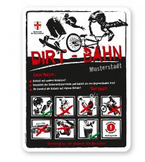 Spielplatzschild Dirt-Bahn 8P-weiß - 3 - DS
