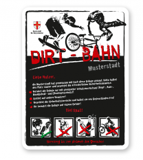 Spielplatzschild Dirt-Bahn 4P-weiß - 3 - DS