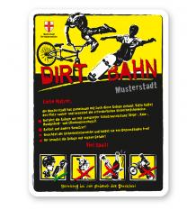Spielplatzschild Dirt - Bahn 4P-gelb - DS