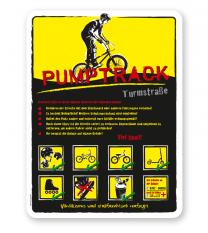 Spielplatzschild Pumptrack 07 - gelb - DS