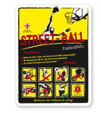 Spielplatzschild Streetball 8P-gelb - DS