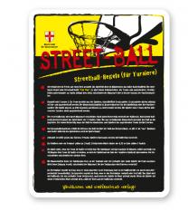 Spielplatzschild Spielregeln Streetball - gelb - DS
