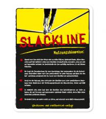Spielplatzschild Slackline - gelb - DS