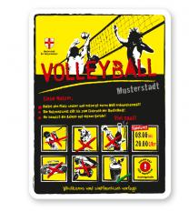 Spielplatzschild Volleyball 8P-gelb - DS