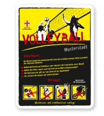Spielplatzschild Volleyball 4P-gelb - DS