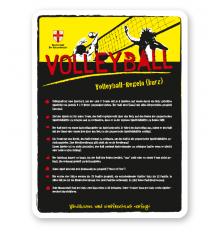 Spielplatzschild Spielregeln Volleyball - gelb - DS