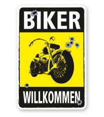 Parkplatzschild Biker willkommen - DS