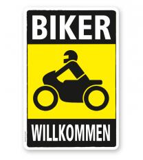 Parkplatzschild Biker willkommen 2 - DS