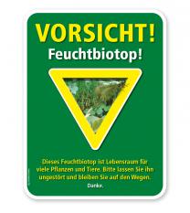 Naturschutzschild Vorsicht, Feuchtbiotop – G/GW