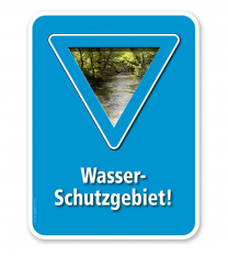 Schild Wasserschutzgebiet – G/GW