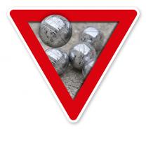 Verkehrsschild Vorsicht, Boule