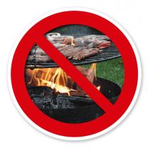 Verkehrsschild Grillen verboten