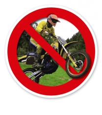 Verkehrsschild Motocross verboten