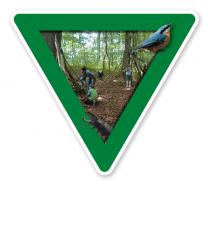 Verkehrsschild Waldkindergarten - Naturschutz (grün)