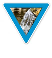 Verkehrsschild Vorsicht, Wasserschutzgebiet