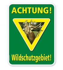 Forstschild Achtung, Wildschutzgebiet – G/GW