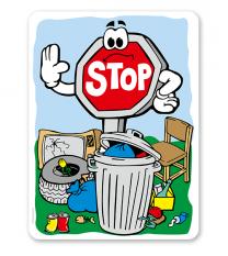 Schild Keinen Müll abladen - GF