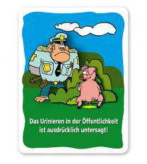 Schild Das Urinieren in der Öffentlichkeit ist ausdrücklich verboten - GF