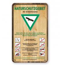 Schild Naturschutzgebiet im Holzdekor 8P - GF-H