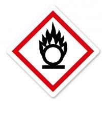 GHS 03 - Symbol Flamme über einem Kreis