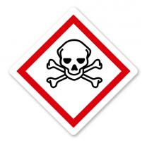 GHS 06 - Symbol Totenkopf mit gekreuzten Knochen