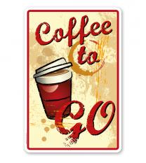 Schild Coffee to go - Vintage – GP