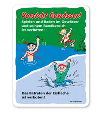 Schild Vorsicht Gewässer - GS
