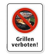 Schild Grillen verboten – G/GW