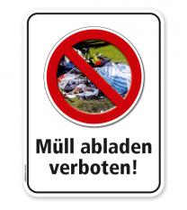 Schild Müll abladen ist verboten – G/GW