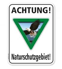 Schild Achtung, Naturschutzgebiet (1) – G/GW