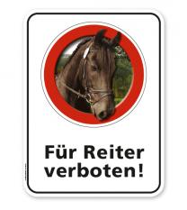 Schild Für Reiter verboten – G/GW