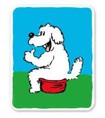 Hundeschild Hundetoilette - Hundewiese - H