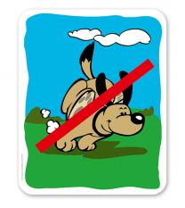 Hundeschild  Keine Hundefreilauffläche - H