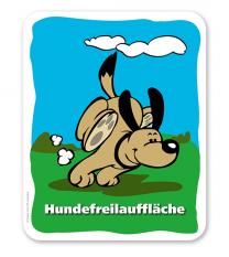 Hundeschild  Hundefreilauffläche - H