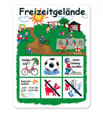 Spielplatzschild Freizeitgelände - KSP-1