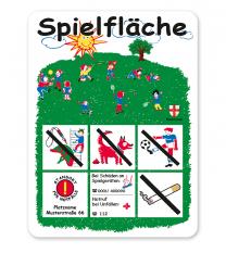 Spielplatzschild Spielfläche - KSP-1