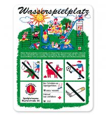 Spielplatzschild Wasserspielplatz - KSP-1