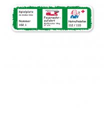 Zusatzschild zu Spielplatzschildern (01) - KSP-1