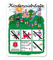 Spielplatzschild Kinderspielplatz KSP-1