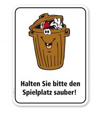 Spielplatzschild Halten Sie bitte den Spielplatz sauber – KSP-2