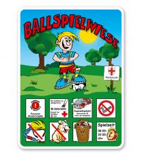 Spielplatzschilder Ballspielwiese 8P - KSP-2
