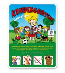 Spielplatzschild Kindergarten 4P - KSP-2