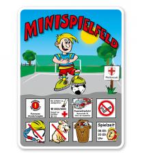Spielplatzschilder Minispielfeld 8P - KSP-2