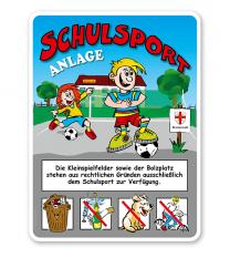 Schulhofschilder Schulsportanlage 8P - KSP-2