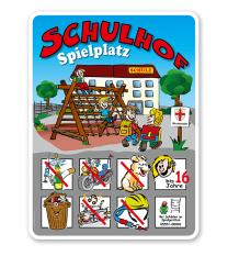 Schulhofschilder Schulhof Spielplatz - Variante 2 - 8P - KSP-2