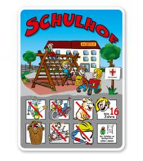 Schulhofschilder Schulhof Spielplatz - Variante 3 - 8P - KSP-2