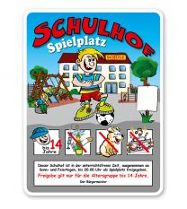 Schulhofschilder Schulhof Spielplatz 8P - KSP-2