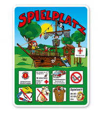 Spielplatzschilder Spielplatz - Piratenschiff 8P - KSP-2