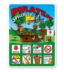 Spielplatzschilder Piratenspielplatz - Piratenschiff 8P - KSP-2