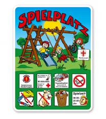 Spielplatzschild Spielplatz - Variante 1 - KSP-2